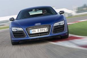 2014 Audi R8 V10 Plus driving